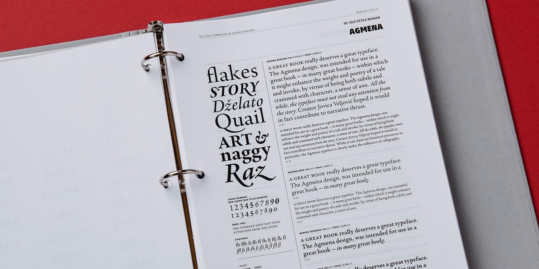 Monotype Font Set   the narrative